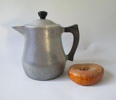 Tea Pot Vintage Cast Aluminum Kettle Club by HobbitHouse on Etsy