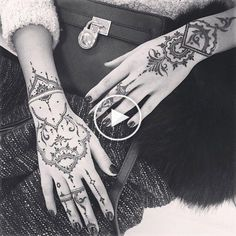 Iconosquare – Instagram webviewer #handtattoos Side Hand Tattoos, Henna Art, Mehndi Designs, Arm Warmers, Nail Art, Sweet, Color, Instagram, Henna Ideas