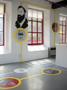 Leeds Museum and Galleries hired Inchpunch to transform an empty room into an inspirational and engaging visitor space. Exhibition Stand Design, Exhibition Display, Exhibition Space, Exhibition Ideas, Ppt Design, Icon Design, Design Posters, Environmental Graphic Design, Environmental Graphics