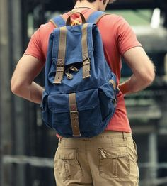 School backpackLaptop backpack Blue by LIANGJENYSTUDIO on Etsy, $55.00