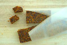 Raw Paleo Superfood Bars - GrokGrub (chia, bee pollen, sea-buckthorn, coconut, dates!)