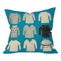 Mummysam Sweaters Throw Pillow