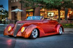 '36 Ford Street Rod My Brother has one right now that he paid $$$ 70 Thousand for it and it's all Fiber Glass what a Piece of  Crap Car!!!! Nick Chicone )