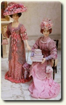 Dollhouse Dolls: Two Fine Ladies of Quality