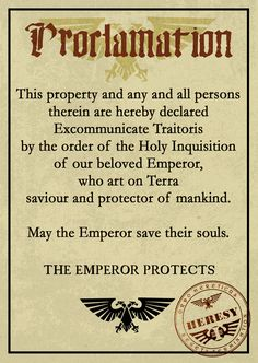 40k imperial inquisitor document - Google Search
