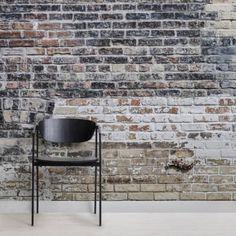 Realistic Brick Wall Murals & Brick Effect Wallpaper Painted Brick Walls, White Brick Walls, Red Walls, Grey Brick, Black Brick Wallpaper, Brick Wallpaper Mural, 3d Wallpaper, Vintage Design, Rustic Design