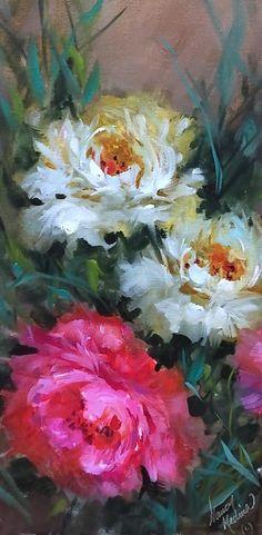Art - Nancy Medina Watercolor Flowers Tutorial, Acrylic Painting Flowers, Paintings I Love, Diy Canvas Art, Arte Floral, Flower Art, Drawing, Flower Watercolor, Old Art