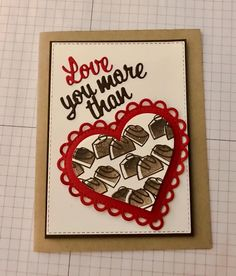 Valentine Cards, Holiday Cards, Valentines, Food Cards, Love You More Than, Recipe Cards, Creative Cards, Card Holders, How To Plan