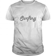 Surfing Classic Retro Design T Shirts, Hoodies, Sweatshirts. GET ONE ==> https://www.sunfrog.com/Jobs/Surfing-Classic-Retro-Design-White-Guys.html?41382