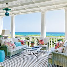 Colorful porch