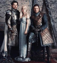 A lannister, Targaryen and a Stark on one picture...