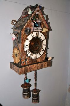 Altered Cuckoo Clock by Anne-Marie Martin