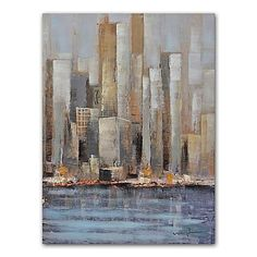 Grander Images High Rises Canvas Wall Art >>> Check this awesome product by going to the link at the image.
