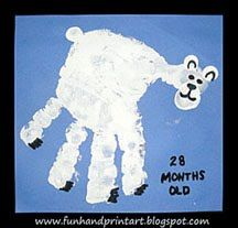 Today is Polar Bear Day! My toddler and I made this Handprint Polar Bear. Start with a white handprint. Under the thumb, place another thumbprint. The ears are made with his pinkie finger and the tail is his index finger. When it dries, add on bear claws and facial features. Head over to our kids crafts blog …