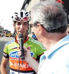 Romsée Stavelot Romsée 2013 : Bofrost Prorace CT rider Cedric COLLAERS interviewed after winning the best climber's (GPM) category.