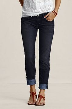 Slim leg jean from Landsend canvas