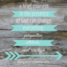 Check out this blog post: This Challenge Will Reset Your Whole Week - http://margaretfeinberg.com/wonderstruck-wednesday-the-wonder-of-gods-presence/ #LIVEWONDERSTRUCK #QuietTime