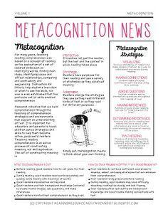 Metacognition News (Freebie) for Parents