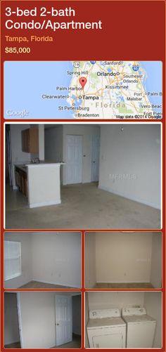 3-bed 2-bath Condo/Apartment in Tampa, Florida ►$85,000 #PropertyForSaleFlorida http://florida-magic.com/properties/29690-condo-apartment-for-sale-in-tampa-florida-with-3-bedroom-2-bathroom