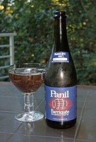 Cerveja Panil Barriquée, estilo Flanders Red Ale, produzida por Birrificio Torrechiara, Itália. 8% ABV de álcool.