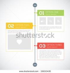 Modern timeline design template - stock vector