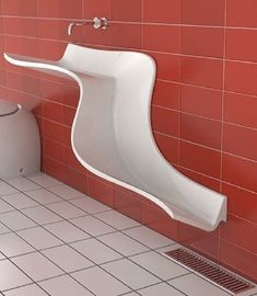 Slip and Slide sink. No pipes underneath the sink because it slides to a drain on the floor.