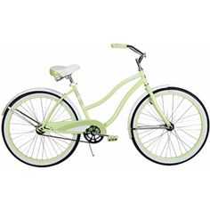 """So cute!  Buy a basket for the front and you are set!  Only $88!  26"""" Huffy Cranbrook Women's Cruiser Bike, Pistachio"""