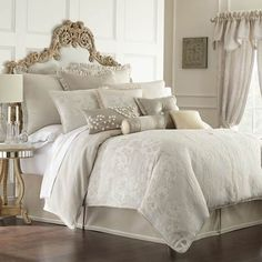 30 Pretty Photo of Ivory Bedding Bedroom . Ivory Bedding Bedroom Waterford Linens Genevieve Reversible Comforter Set In Ivory Comforter Sets, Bed Design, Beige Bed, Luxury Bedding, Luxury Bedding Sets, Custom Bed, Bed Linens Luxury, Home Decor, Bedding Brands