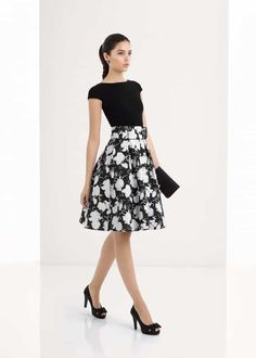 1U125, Aire Barcelona Fiesta Dressy Dresses, Modest Outfits, Skirt Outfits, Simple Dresses, Elegant Dresses, Chic Outfits, Dress Skirt, Fiesta Outfit, Sunday Dress