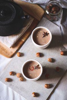 Chilli chai hot chocolate with roasted hazelnut milk.