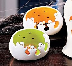 PartyLite®  Spooky Ghost Tealight Pair