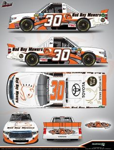 Officials from On Point Motorsports announced today that Bad Boy Mowers has joined the organization and will serve as Primary Sponsor for the NASCAR G. Nascar Trucks, Nascar Racing, Bad Bay, Daytona International Speedway, Toyota Tundra, Diecast, Race Cars, Boys, Drag Race Cars