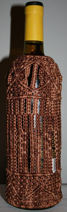 Intricate Macrame Wine Bottle Cover by ArtisticIntrigue on Etsy, $250.00    weird...but interesting