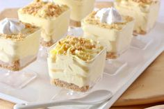 No-Bake Lemon Cheesecake Mousse Cups - Overtime Cook (no bake oreo cheesecake cups) Mini Desserts, No Bake Desserts, Just Desserts, Delicious Desserts, Dessert Recipes, Easy Lemon Desserts, Spring Desserts, French Desserts, Plated Desserts