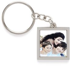 Pewter Photo Keychain and Photo Keyring | Shutterfly