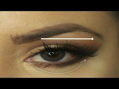 Maquillaje de ojos para parpados caidos,hinchados,paso a paso   hooded eye makeup tutorial - YouTube