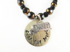 hand stamped bracelet has a gold disc stamped. #bracelet #onlinejwellery #shopping #online shopping #fashion