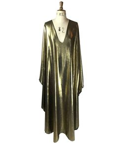 Baylis & Knight Maxi Gold Plunge Studio 54 dress