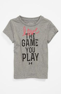 Under Armour Damen Kurzarmshirt Fit Kit Baseball Tee Graphic