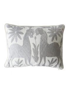 Alegria Home Baline Otomi Pillow, Gray