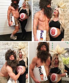 maternity-halloween-costume-wilson-castaway Pregnancy First, Pregnancy Trimesters Pregnant Couple Halloween Costumes, Halloween Costumes You Can Make, Pregnancy Costumes, Scary Costumes, Halloween Outfits, Maternity Halloween Costume, Maternity Costumes, Funny Halloween Costumes, Halloween Halloween
