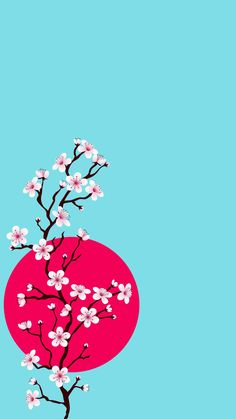 Branch with cherry blossoms Free Vector Cute Wallpapers, Wallpaper Backgrounds, Iphone Wallpaper, Cherry Blossom Art, Geisha Art, Art Asiatique, Art Japonais, Kokeshi Dolls, Chinese Art