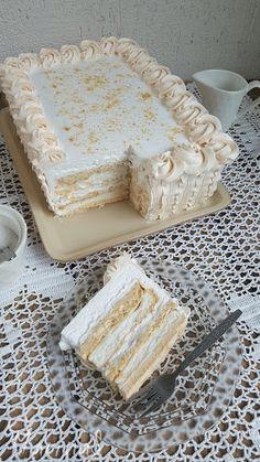 MarinaS Taste: Japanski vetar - My site Torte Recepti, Kolaci I Torte, Baking Recipes, Cookie Recipes, Dessert Recipes, Open Book Cakes, Brze Torte, Torta Recipe, Pavlova Recipe