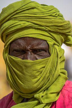 Africa | Portrait of a Tuareg in Gorom Gorom market. Northern Burkina Faso | ©Anthony Pappone