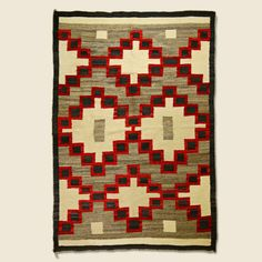 - Vintage Navajo Rug - Hand-woven wool yarn - Naturally dyed fibers - Very bright pigments - Great condition - Measurements: Length: Navajo Weaving, Navajo Rugs, Weaving Art, Loom Weaving, Hand Weaving, Native American Rugs, Native American Crafts, American Indian Art, Wool Yarn