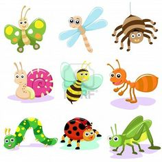 insect CARTOON SET Stock Photo