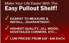 Easy Pullout Shelf