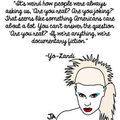 Die Antwoord Discusses Persona and Fans, In Illustrated Form... Illustrations by Jena Ardell for OC Weekly Music PLUS adating 'ice breaker'. ;) http://blogs.ocweekly.com/heardmentality/2014/05/die_antwoord_quotes_illustrated_form.php