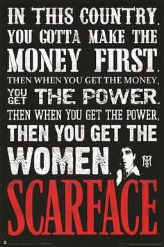scarface quotes | scarface poster product id mpw 72869 description quote print rolled ...