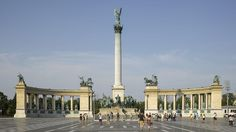 Heroes' Square (Hősök tere), Budapest, Hungary.